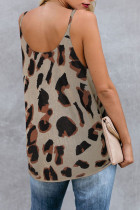 Brown Leopard Knit Tank Top
