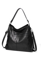Black Luxury Faux Leather Handbag