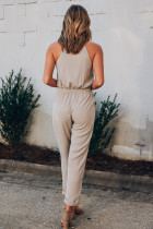 Button Front Patch Pockets Jumpsuitless