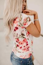 Çiçek Desenli Tişört