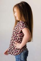 Rose Leopard Küçük Kız Çocuk Tişörtü