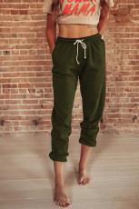 Green Drawstring Waist Pockets Jogginghose