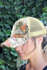 Sequins Fashion Fashion Women Cap Adjustable Mesh Splicing Baseball Cap