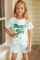 Mama's girl Tie-dye Print Lounge Set