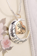 Women's Mother's Day I Love You Mom alfabet ketting