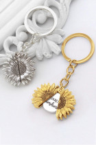 Gold You Are My Sunshine Sunflower Keychain