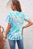 Lichtblauw COOL MOM Tie Dye T-shirt