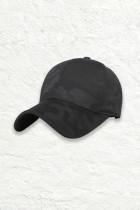 검은 색 위장 한국식 정점 모자