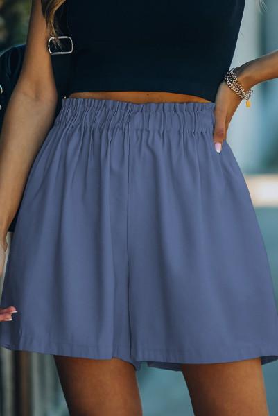 Blå bomuldsblanding med lommelygter med høj hævning