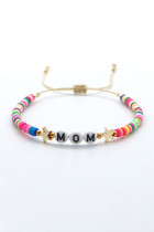 Mom Star Colorful Beading Adjustable Bracelet