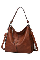 Borsa hobo in ecopelle marrone