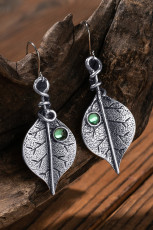 Ancient Silver Tree Leaf Øreringe