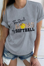 T-shirt grigia The Real of MOMS SOFTBALL