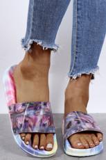 Purple Tie Dye Slide Sandaler