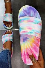 Sandaler med blå slipsfarve