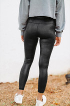 Sort slangeskind PU leggings