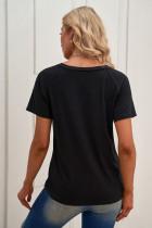 DET ER FINE JEG ER FINE ALT ER FINE Sort V-hals T-shirt