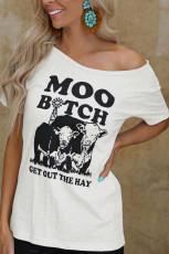 Moo kaltak saman grafik tişörtü çıkar