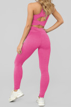 Set reggiseno sportivo e leggings Rose Crisscross