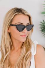 Gafas de sol estilo ojo de gato con remaches retro