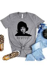 Camiseta RESPECT Graphic gris