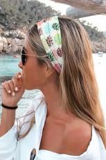 Pineapple Print Twist Yoga Sports Wide Headband