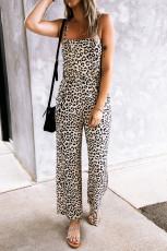 Mono de leopardo sin mangas con espalda abierta