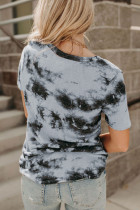 Gri Batik V Yaka Tişört