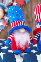 Steagul albastru al SUA Ziua Independenței Pentagramă pitică cu dungi decorate