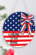 Ornamento colgante de la puerta de la placa decorativa de la bandera americana