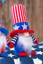 Κόκκινη σημαία ΗΠΑ Ημέρα Ανεξαρτησίας Ριγέ Πεντάγραμμα Νάνος Κούκλα Διακόσμηση