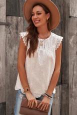 Λευκή αμάνικη μπλούζα