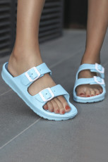 Blå to stropper spænde sandaler