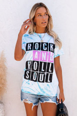 Camiseta con efecto tie-dye ROCK AND ROLL SOUL
