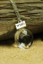 Heart Dandelion Wish จี้สร้อยคอคริสตัล
