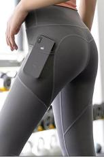 Szare bezszwowe legginsy do ćwiczeń jogi fitness Tiktok