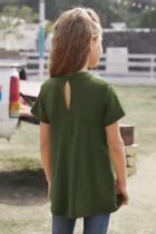 Top cu mâneci scurte pentru fete de cheie verde