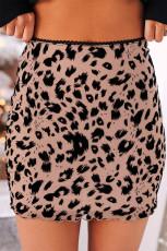 Облегающая мини-юбка с леопардовым принтом