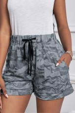 Camouflagekleurige trekkoord Casual broek met elastische taille en zakken
