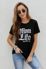 Koszulka Mom Life z okrągłym dekoltem
