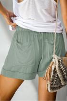 Sage Green Strive Tencel Shorts met zak