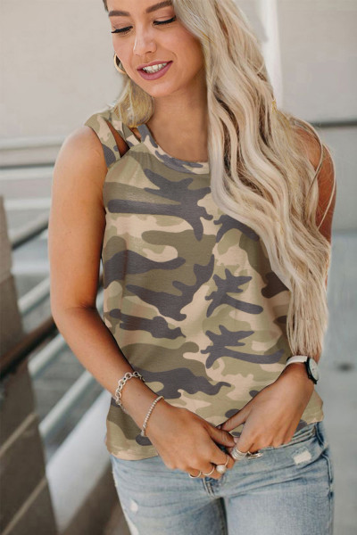 Camo Crisscross Shoulder Tank