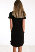 Czarna sukienka mini ze sznurkiem w talii
