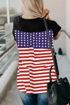 アメリカ国旗プリントTシャツ