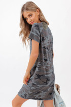 Pembû Blend T-shirt Camo Print Mini Dress