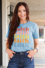 Faith Graphic Blue Tee