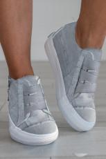 Γκρι Lace-up Platform Sneaker