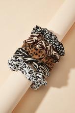 フランスのレトロな動物パターンの髪のネクタイ