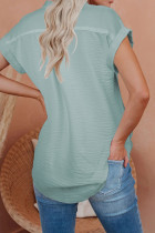 Рубашка с короткими рукавами и пуговицами из льна