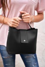 Μαύρη δερμάτινη τσάντα Messenger Messenger